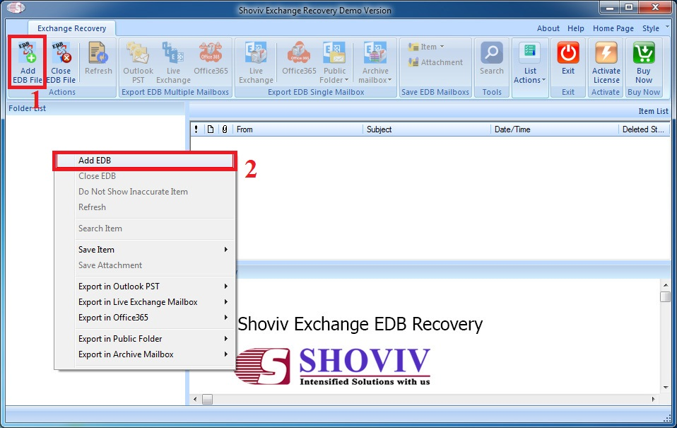 Convert EDB to PST screenshot